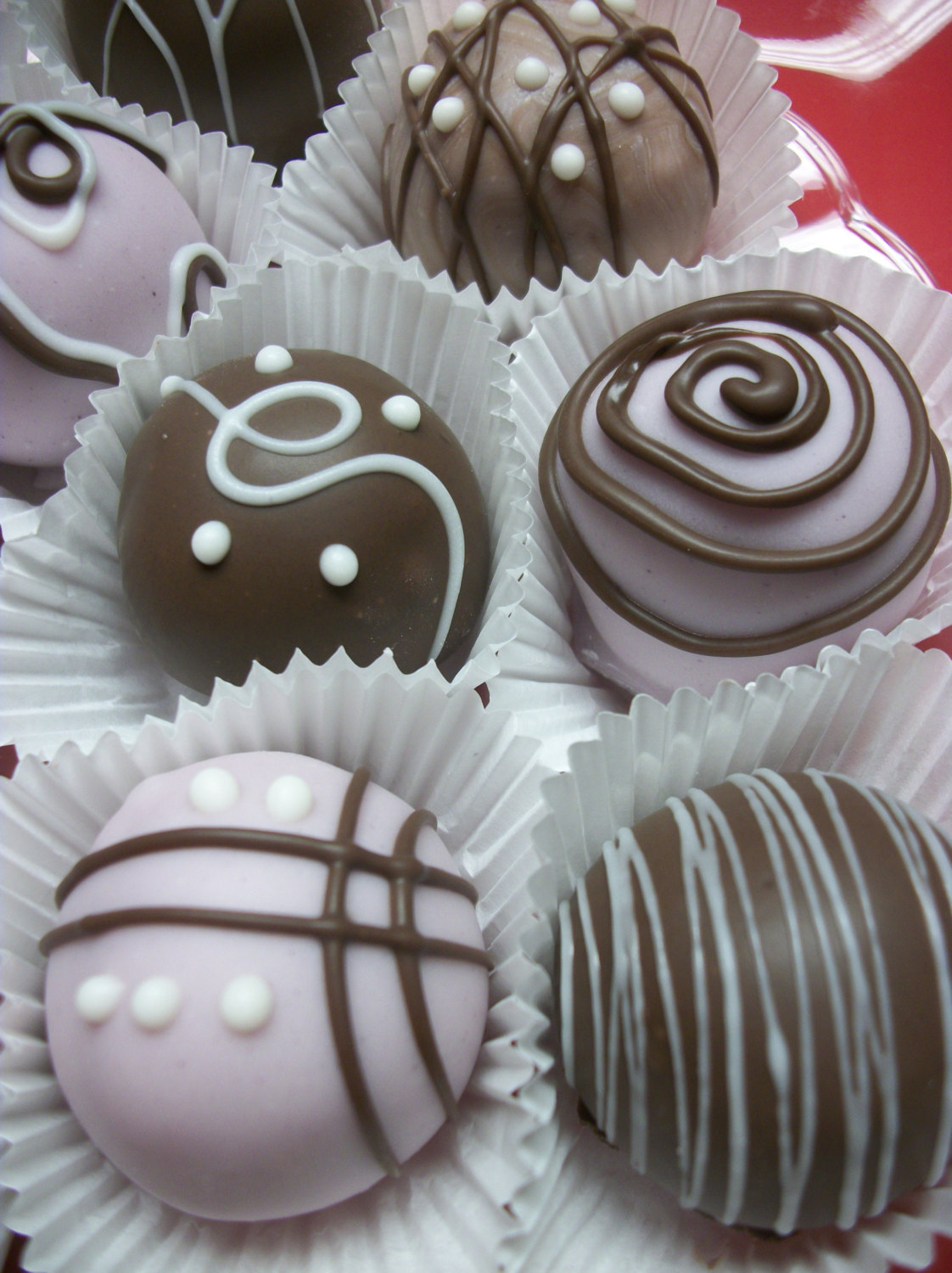 Cake Balls Lavender Chocolate Colored Coated 12 Pieces
